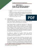 Práctica 1 Registro de La Ingesta Propia e Ingesta Total de Nutrientes Joel Calua