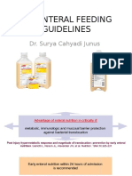 Icu Enteral Feeding Guidelines