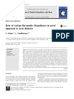 Role of various flavonoids - Hypotheses on novel approach to treat diabetes.pdf