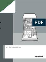 Instrucciones lavavajillas Siemens SN25E210EU