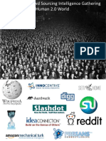 Crowd Sourcing Intelligence Gathering