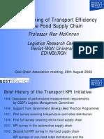 Benchmarking of Transport Efficiency