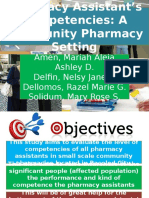 Pharmacy Assistant's Competency
