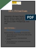 MKT 578 Final Exam Solutions on Studentwhiz