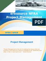 Eresource NFRA Project Management