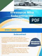 Eresource Nfra Subcontractor Management