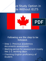 Exclusive Study Options in Canada Without IELTS