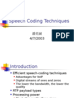 Speech Coding Techniques