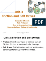 Unit-3- Friction and Belt Drives
