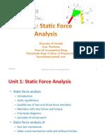 Unit-1- Static Force Analysis