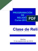 Programación Religión 2016-17