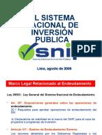 El Sistema Nacional de Inversión Pública (SNIP) del Perú
