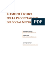 Elementi Teorici per la Progettazione dei Social Network (1.0) 20070924