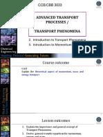 Lecture 1 Advanced Transport Process