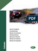 Defender Td5 MY00 Owner's Handbook