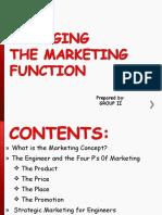 Managing Marketing Function - GROUP 2