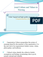 Nursing Organizational Culture Presentation