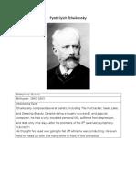 Tchaikovsky Bio for Kids