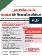 Seminar Effiziente Recherche für Finanzdienstleister