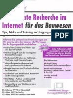 Seminar Efiziente Recherche im Internet für das Bauwesen