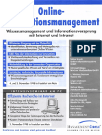 Konferenz Online-Informationsmanagement