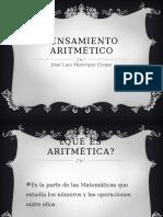 Pensamiento Aritmético