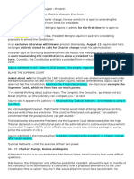 Articles on Charter Change