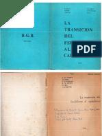 Dobb, Maurice Et. Al - La Transición Del Feudalismo Al Capitalismo, Ed. BGB, S-f R