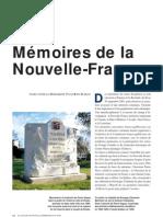 Mémoires de la Nouvelle-France