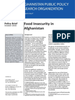 Policy Brief - Food Insecurity in Afghanistan