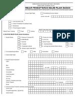 Formulir Pendaftaran NPWP Badan Excel - NPWPOnline.com