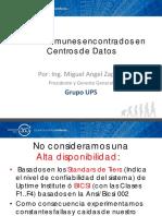 Errores Comunes Encontrados en Centros de Datos Miguel Angel Zapata Grupo UPSv3