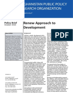 Policy Brief - Renew Approach to Development