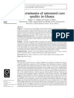 Determinants of antenatal care quality in Ghana.pdf
