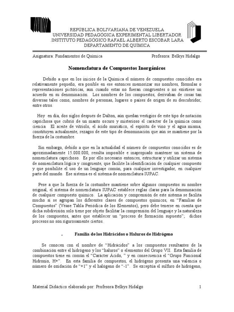Nomenclaturainorganica urtaz Choice Image