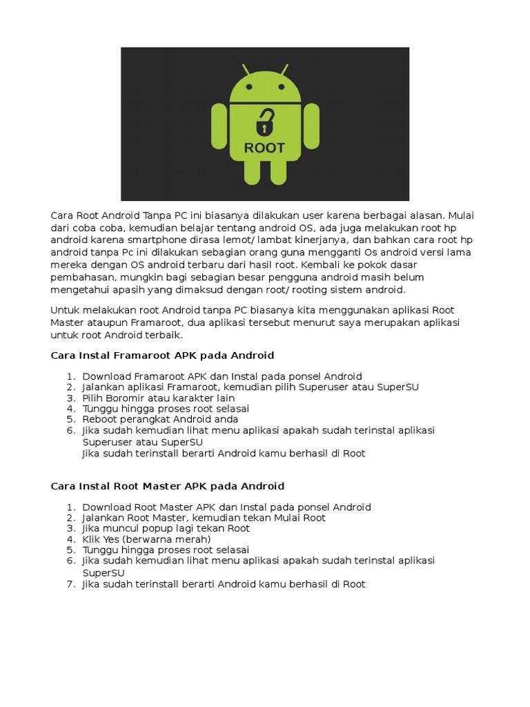 2 Cara Root HP Android Mudah Tanpa PC