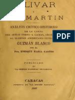 Bolivar y San Martin