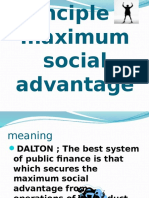 Principle of Maximum Social Advantage
