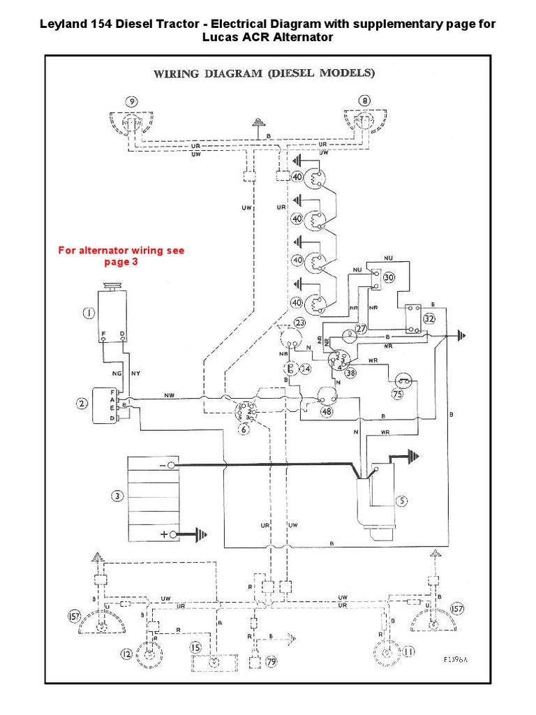 Wiring Diagram Leyland Diesel 154