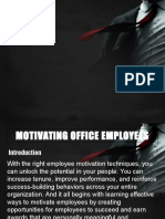 Motivating Office Employees