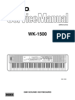 Casio WK1500 Service Manual