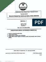 2016 Percubaan Spm Kedah Biologi Kertas 1