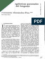 Hernandez-Pina (1984) Actitudes Linguisticas Parentales y Desarrollo Del Lenguaje Infantil