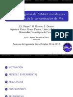 ZnMnO Thin Films
