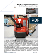 Onboard weighing scales for electric pallet trucks, compact series, ED2E-EP 2P V2
