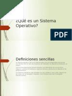 Qué Es Un Si}Stema Operativo
