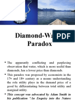 Water and Diamond Paradox