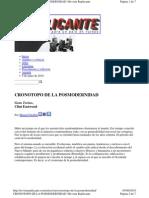 Cronotopo de La Posmode PDF