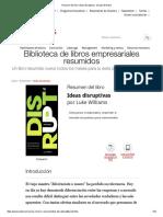 Resumen Del Libro 'Ideas Disruptivas', De Luke Williams