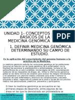 Unidad 1- Conceptos Básicos de La Medicina Genómica Puntos 1-3